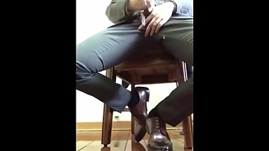 Jerking off in Suit