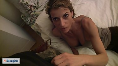 1st Timer French Milf Bianca Takes A Huge Load For A Place To Crash