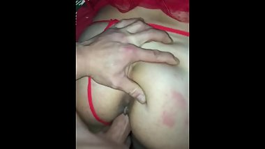 Fucking her from behind with my rock hard cock