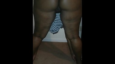 Sexy Ebony Stretches with a Phat Ass