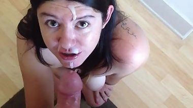 Facial and Wants More Cum