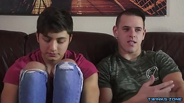 Latin twinks spanking with cum in ass