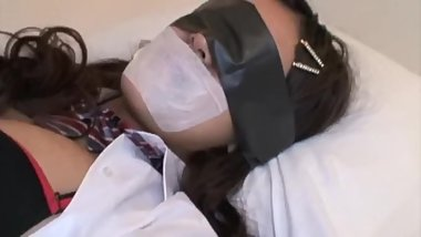 asian medical tape gagged