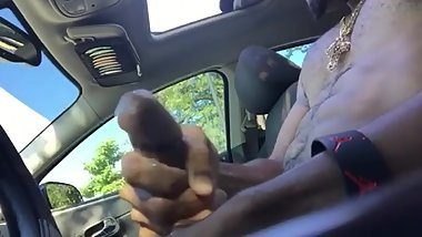 Sexy Black Guy Public Jerk