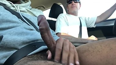 man sucking my dick in his car