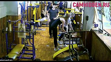 Fitness girl teen hidden camera