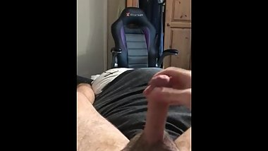 Wanking and playing with my pre cum