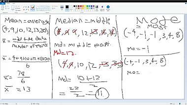 Mean, Median and Mode Review