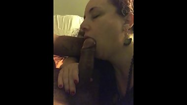 Mature woman sucking young cock