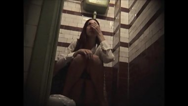 Girls Caught Pissing In Public Restroom