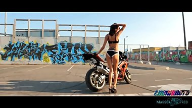 Girl dancing with motorcycle 2