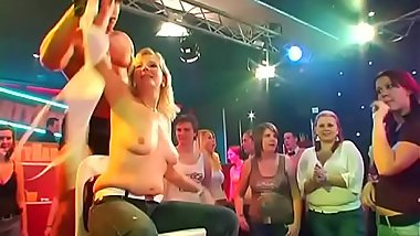 Wild fuck allover the night club everyone having natty wet group-sex