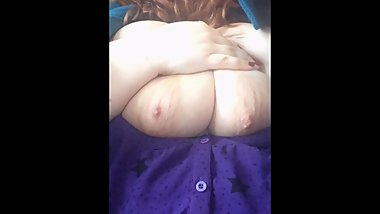 Playing with my tits in a cafe