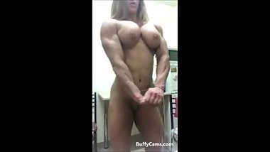 FBB Babe flexing and posing