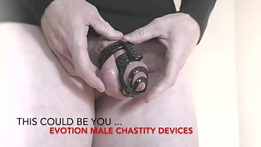 This could be you ... in an Evotion Orion Male Chastity Device