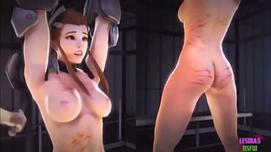 Brigitte Chained Up and Whipped
