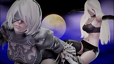 Honey Select 1.20 Studio Neo LRE - The Night: 2B and A2