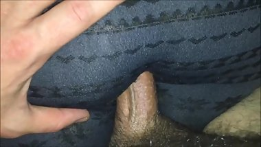 Cumming On Her Ass In Leggings  POV Handjob With Massive Tits Out
