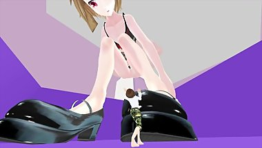 HATSUNE MIKU GIANTESS MMD PART 3 SHOES TRAMPLE POV STOMP