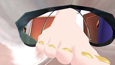 Hatsune Miku Giantess MMD part 2 shoes trample pov stomp