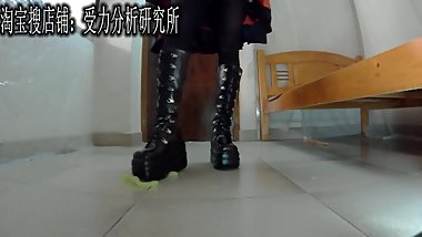 Chinese Gootch boots food crush femdom pov stomping kicking