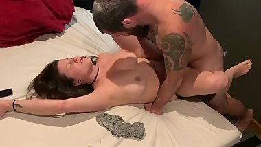 Husband watches wife get fucked then gives her a facial