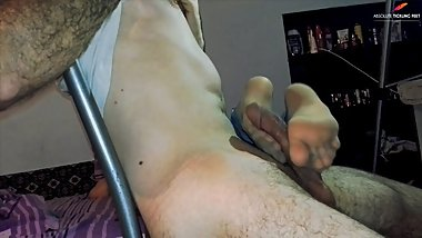 You will get footjob, just do not tickle my feet, please