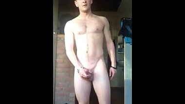 Hot Uncut Guy Undressing And Showing Off His Hard Cock On Cam