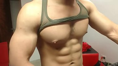bodybuilding strip on cam ( more musclespy on private)