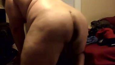 Hung Chub With Massive Muscles Making His Mattress Groan