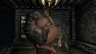 Skyrim Slut Fucked by Monsters