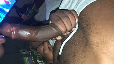 Ebony giving me sloppy toppy w/ creamy fuck
