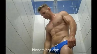 Locker Room Spy - Muscle Dude Tight Swimwear Bulge Showers Video