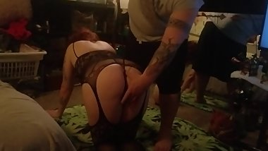 Spanking and pussy play