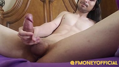 F Money Uses Anal Toy And Cums On Abs