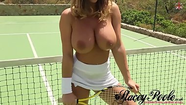 Stacey Poole: Wet on a Tennis Court with Beth Lily (We're Having Fun) [HD]