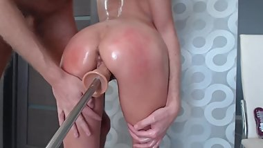 HARD FUCKED ANAL & BODY OIL TEEN & ASMR SOUND ORGASM HD - Kory Nelson