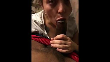Amazing sloppy mouth from blue-eyed angel