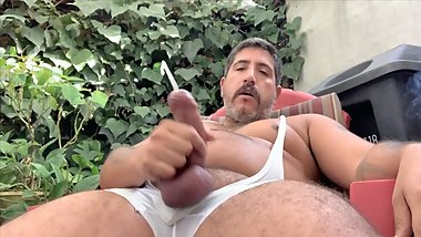 Edging My cock, Smoking with a huge load. Sebastian Rio