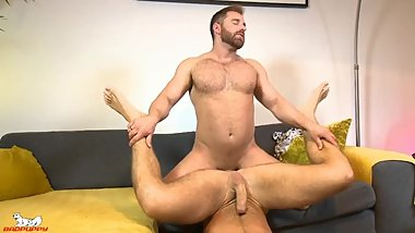 Jonas shoves it in hard & begins pounding Tommy's hole