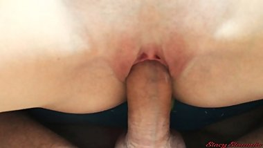 My tight pussy makes him cum to fast (closeup creampie)