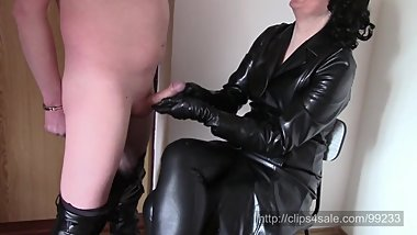 Handjob in long leather coat (SAMPLE)