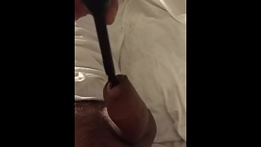[IsA] Sounding my own cock with a vibrator dildo for urethra