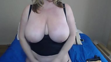 Dirty talking curvy MILF Zoey Andrews with enormous tits
