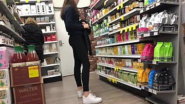 Tall skinny candid leggings booty part deuce.