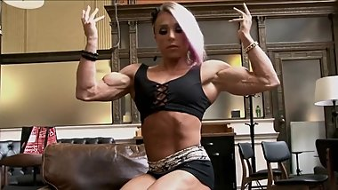 FBB Muscle Babe Flexing and Posing