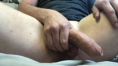 Getting Myself Hard - Massaging and Playing Around (No Cumshot)
