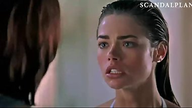 Neve Campbell & Denise Richards Topless Lesbian Kiss On ScandalPlanet.Com