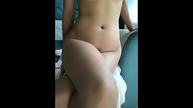 Double crossed legs masturbation chinese with vibrating dildo