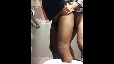 Quick Cum Dump in Mall Restroom